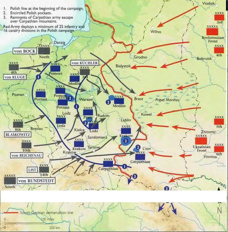 Схема наступления немецких войск на ссср