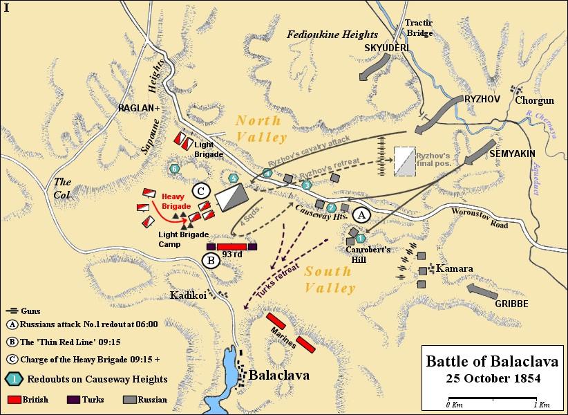 Крымская война схема сражений