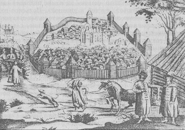 Вид Казани. Гравюра XV века