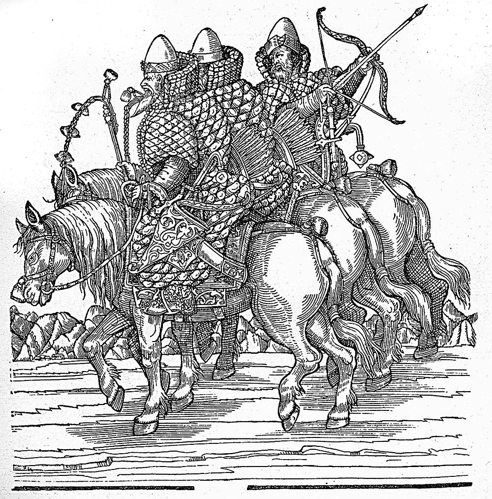 Гравюра из книги з герберштейна