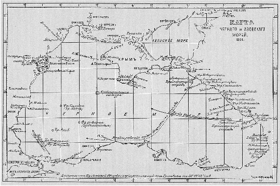 схема черного моря — схема
