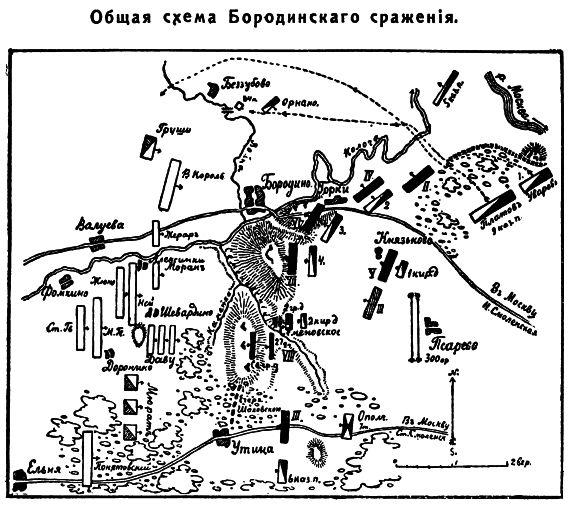 Общая схема Бородинского сражения: http://www.runivers.ru/doc/cartography/470596/