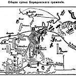 Карта: Общая схема Бородинского сражения.